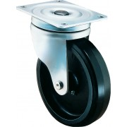 200mm Flexello Swivel Castor Rubber Tyre Wheel, Roller Bearing, 585kg