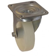 150mm Swivel Castor (Plate), Nylon wheel, Plain Bore, 500kg
