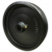 200mm Flexello Cast Iron Wheel, 20mm Plain Bore, 1270kg Load Capacity