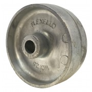 63mm Cast Iron Wheel, 9.5MM Plain Bore, 122kg Load Capacity