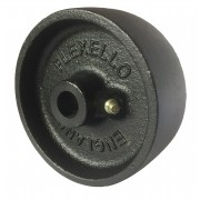 100mm Cast Iron Wheel (Flexello),15mm Plain Bore, 450kg Load