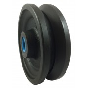 150mm V Grooved Cast Iron Wheel, 20mm Roller Bearing, 1025kg
