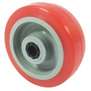 100mm Polyurethane Tyre / Nylon Centre Wheel, 12mm Roller Bearing, 160kg
