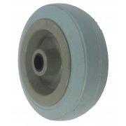 100mm Grey Rubber Tyre / Plastic Centre Wheel, 12mm Plain Bore, 70kg