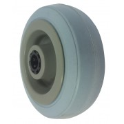 100mm Grey Rubber Tyre / Plastic Centre Wheel, 12mm Roller Bearing, 70kg