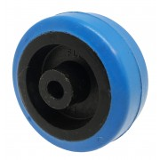 50mm Rubber Tyre / Nylon Centre Wheel, 6.4mm Plain Bore, 27kg
