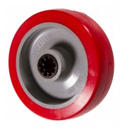 100mm Flexello Polyurethane Tyre Wheel, 15mm Roller Bearing, 250kg