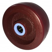 100mm Polyurethane Tyre / Cast Iron Centre Wheel, 15mm Roller Bearing, 295kg