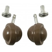 50mm (Pack of 2) Ball Type Furniture Castor with Peg & Socket