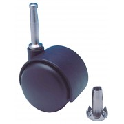 50mm Furniture Castor Polypropylene wheel, Stem and Socket Fitting