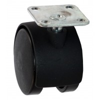 30mm Furniture Castor Polypropylene wheel, Top Plate Fitting