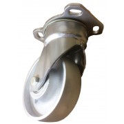 200mm Swivel Castor (Plate), Cast Iron wheel, Ball bearing, 1000kg