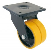 150mm Keystone Swivel Castor Polyurethane Tyre Wheel, Ball bearing, 1000kg