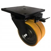 300mm Keystone Swivel Castor Polyurethane Tyre Wheel, Ball bearing 4000kg