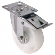 100mm Top Plate Braked Castor, 125kg Load Capacity