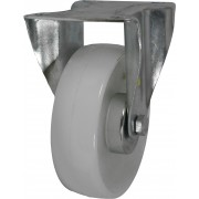 100mm Fixed Castor (Plate), Nylon wheel, Roller Bearing, 150kg