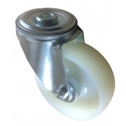 100mm Swivel Castor (BH), White Nylon wheel, Roller Bearing, 150kg