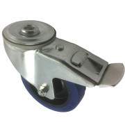 100mm Swivel Castor with Brake (BH), Rubber Tyre wheel, Roller Bearing, 150kg
