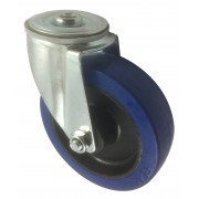 125mm Swivel Castor (BH), Rubber Tyre wheel, Roller Bearing, 150kg