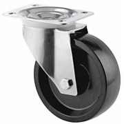 80mm Tente Swivel Castor Phenolic Resin Wheel, Plain Bore, 100kg