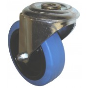 100mm Tente (BH) Swivel Castor Rubber Tyre Wheel, Roller Bearing, 150kg