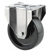 100mm High Temperature Fixed Castor, 125kg Load Capacity