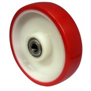 150mm Polyurethane Tyre / Nylon Centre Wheel, 20mm Ball bearing, 500kg