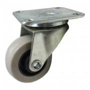 40mm Swivel Castor with Grey Rubber Tyre wheel, Plain Bore, 16kg load rating