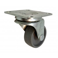 41mm Swivel Castor with Grey Polypropylene wheel, Plain Bore, 20kg load rating
