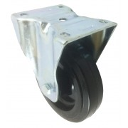 125mm Fixed Castor (Plate), Rubber Tyre wheel, Roller Bearing, 170kg