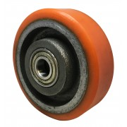 100mm Polyurethane Tyre Cast Iron wheel with 15mm Ball Bearing, Load Capacity = 250kg