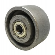 85mm Cast Iron Wheel with 15mm Ball Bearing, Load Capacity 300kg
