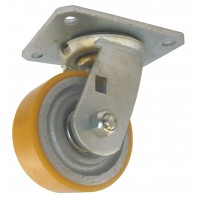 100mm Swivel Castor (Plate), Polyurethane Tyre wheel, Ball bearing, 300kg