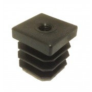 22mm Square Threaded Tube Inserts, 100kg Load Capacity