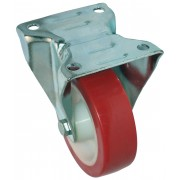 100mm Flexello Fixed Castor Polyurethane Tyre Wheel, Roller Bearing, 150kg