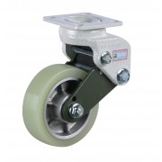 130mm Fixed Castor (Plate Fixing), Polyurethane Tyre wheel, 350kg Load Capacity