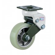 130mm Swivel Castor (Plate Fixing), Polyurethane Tyre wheel, 350kg Load Capacity