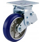 150mm Swivel Castor (Plate), Polyurethane Tyre wheel, Ball bearing, 360kg