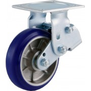 150mm Fixed Castor (Plate), Polyurethane Tyre wheel, Ball bearing, 360kg