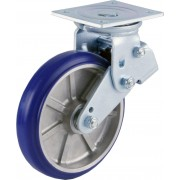 200mm Swivel Castor (Plate), Polyurethane Tyre wheel, Ball bearing, 450kg