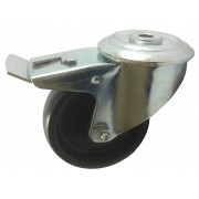 80mm High Temperature Braked Castor, 100kg Load Capacity