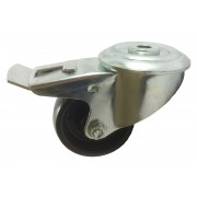100mm High Temperature Braked Castor (+280 deg. C), 125kg Load Capacity
