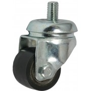 35mm Swivel Castor ,Polyurethane Tyre wheel, Ball bearing, 100kg
