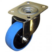 100mm Swivel Castor (Heavy Plate), Rubber Tyre wheel, Roller Bearing, 160kg