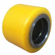 82mmx60mm Polyurethane Tyre Pallet Roller Without Bearing, 500kg