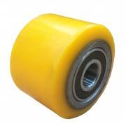 82mmx60mm Polyurethane Tyre Pallet Roller With Bearing, 500kg