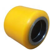 82mmx70mm Polyurethane Tyre Pallet Roller Without Bearing, 600kg
