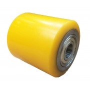 82mmx80mm Polyurethane Tyre Pallet Roller With Bearing, 700kg