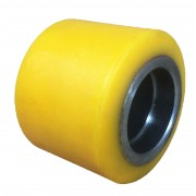 85mmx70mm Polyurethane Tyre Pallet Roller Without Bearing, 600kg