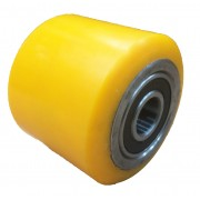 85mmx80mm Polyurethane Tyre Pallet Roller With Bearing, 600kg